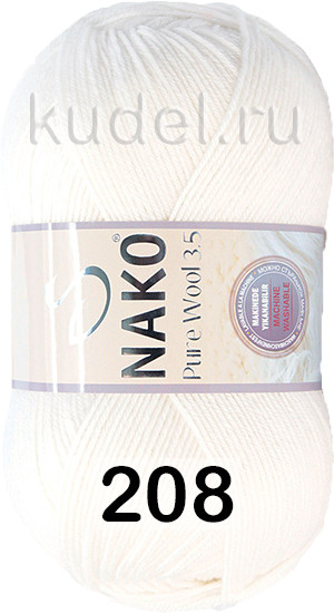 Пряжа NAKO PURE WOOL 3.5